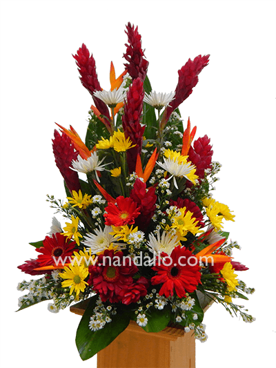 Arreglo Floral Fúnebre Tamaño Mediano