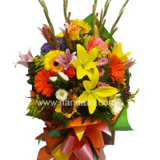 Arreglo de rosas de amor económico