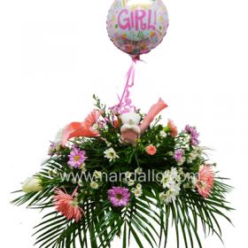 Arreglo floral para baby shower