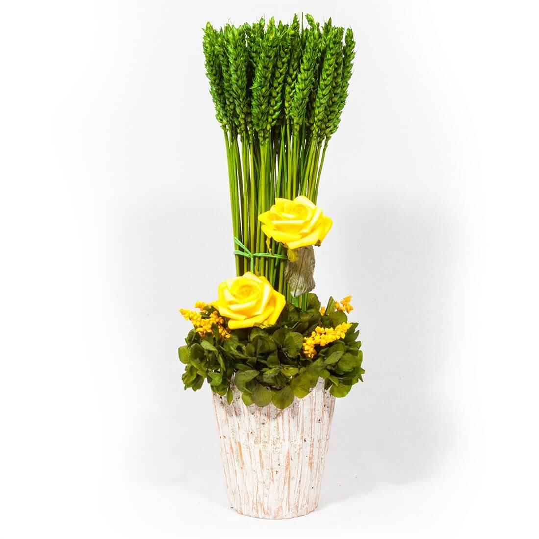 Arreglo de flores secas