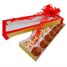Caja de fresas con chocolate