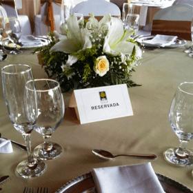 Centro de mesa blanco