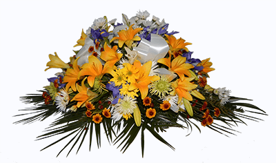 Arreglo Fúnebre De Flores Variadas Amarillas