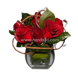 Arreglo floral de escritorio para amor