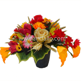 Centro de mesa de flores secas