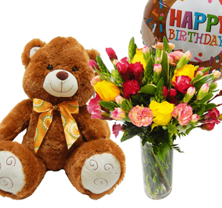Arreglo floral de cumpleaños