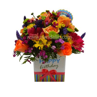 Arreglo floral para cumpleaños