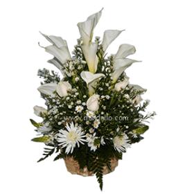 Arreglo de flores para funeral