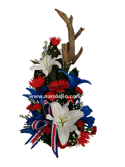 Arreglo floral con lirios