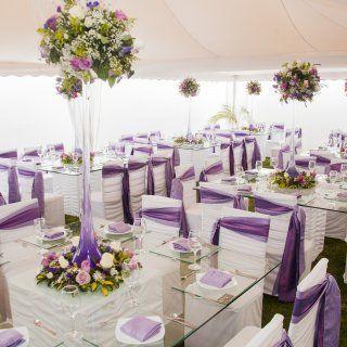 Centro de mesa con rosas para evento boda