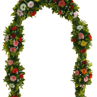 Decoración floral de arco