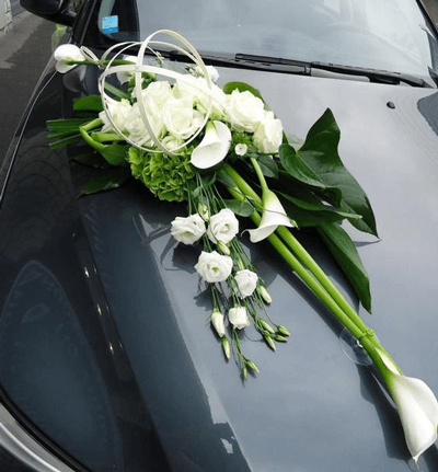 Adorno Nupcial Con Calas Para Carro