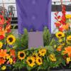 Jardinera floral con girasoles