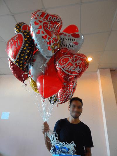 Regalo de globos de helio