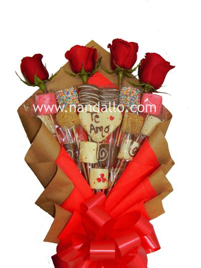 Ramo-de-marsmelos y rosas