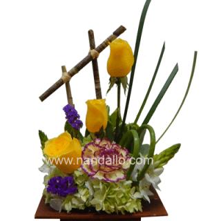 Arreglo floral pequeño primaveral