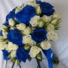 Bouquet rosas azules