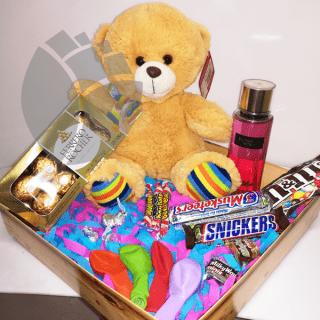 Caja con regalos variados