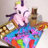 Caja con regalos unicornio