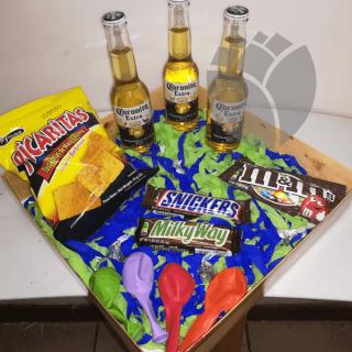 Caja de regalos con cervezas